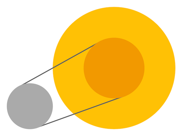 Abstract shapes are joined together by lines