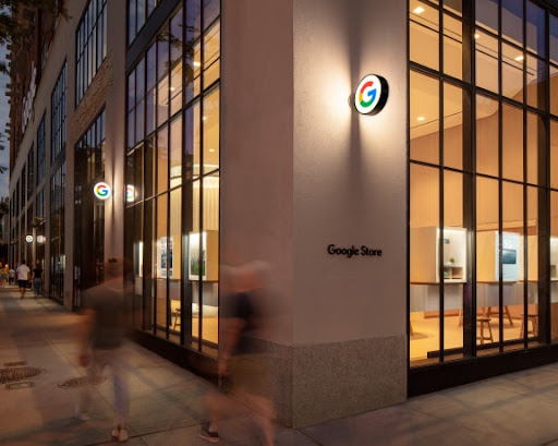 Illustrated image of the Google Store in New York City