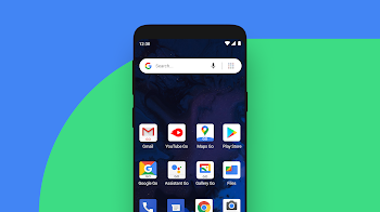 The home screen on an Android device.